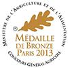 Medaille de bronze 2013